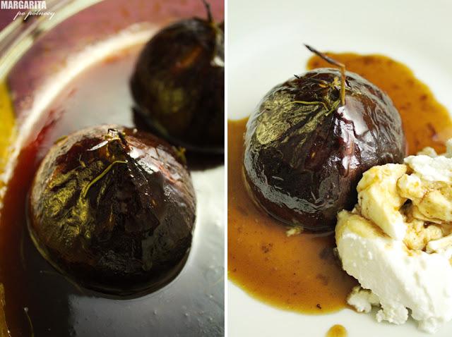 Karmelizowane figi z ricottą i rozmarynem