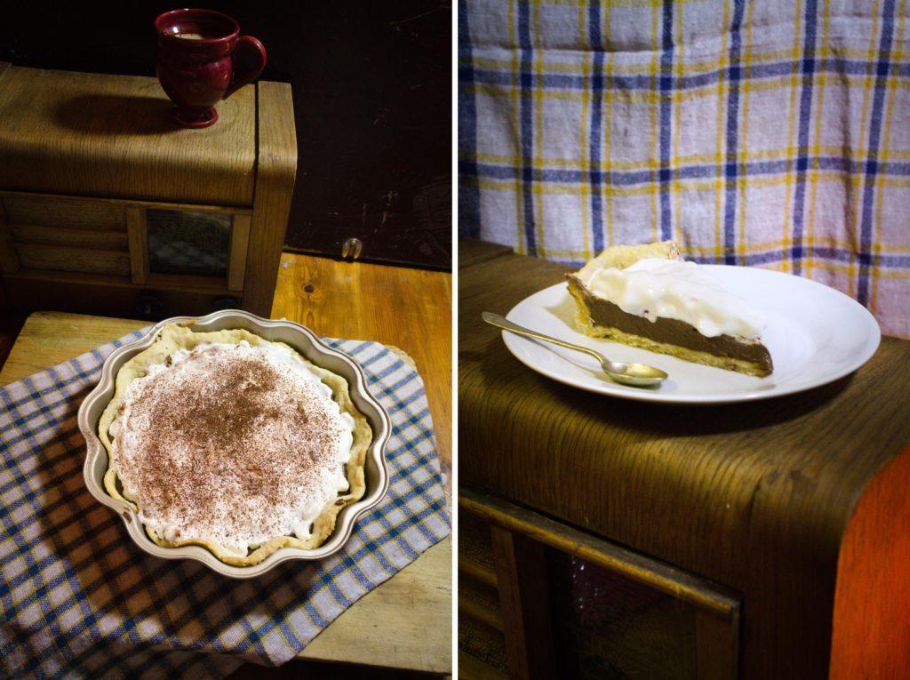 tarta czekoladowa z bitą śmietaną