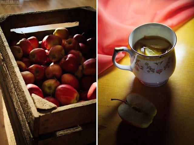 Zimowa korzenna herbata z jabłkami